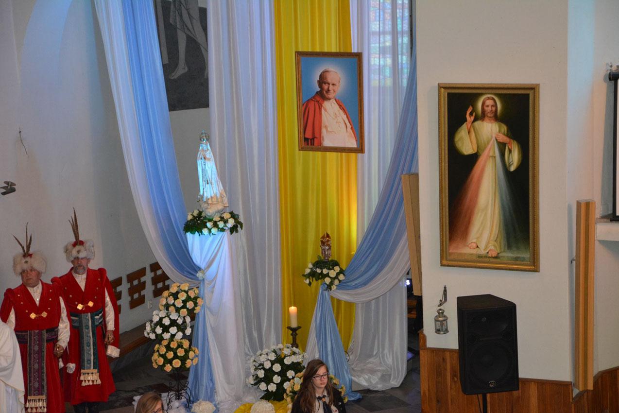Wprowadzenie relikwii Św. Jana Pawła II (13.05.2015)