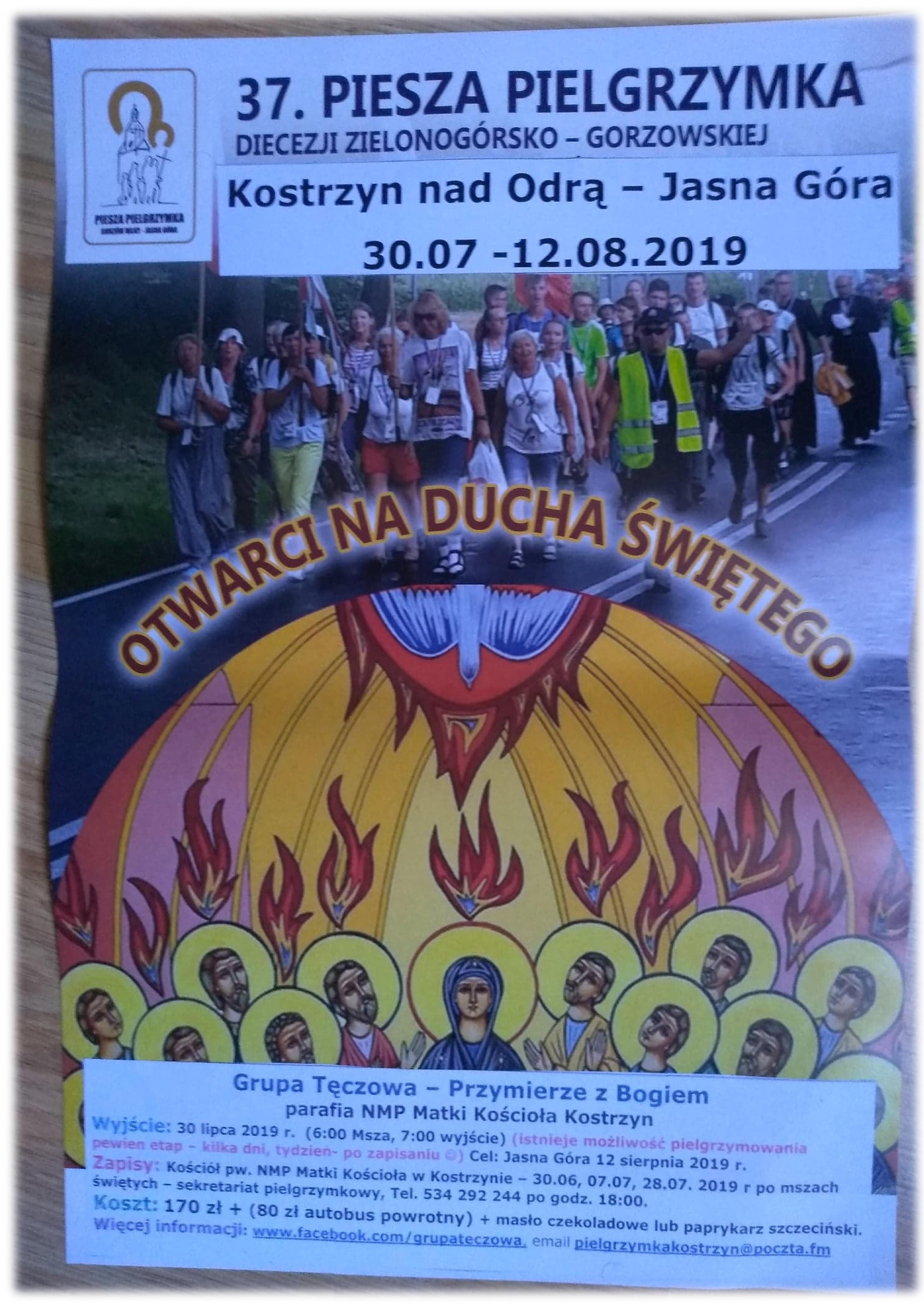 Piesza Pielgrzymka na Jasną Górę – 30 lipca – 12 sierpnia 2019 r.